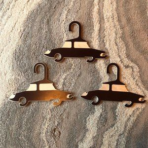Beautiful handmade child plywood car hangers set 3